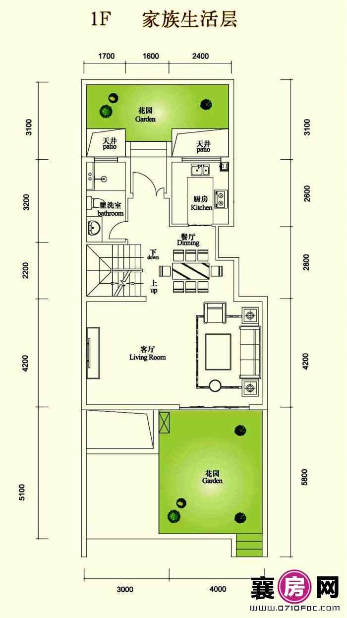 3室2厅1F