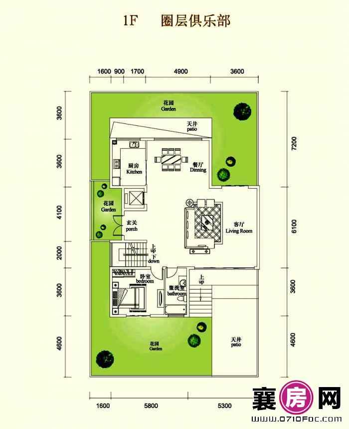 2室2厅1F
