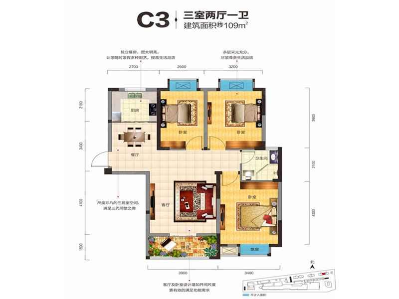 C3三室两厅一卫