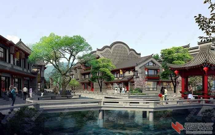 卧龙古镇-水景